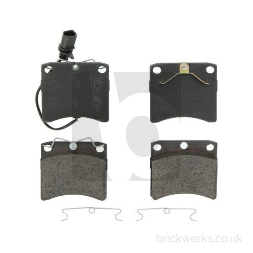 "Brake Pad Set - T4 / Front / '96> / 15"" / Vented / Framed Caliper / Wired"