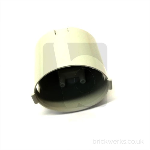 Plug Socket Rear Cover - Westfalia Replacement / White