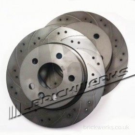 "Brake Disc Set - VW T4 Eurovan / Front / '96> / 15"" / Solid / Black Diamond / PR-1LP / 282x18 / 55mm High"